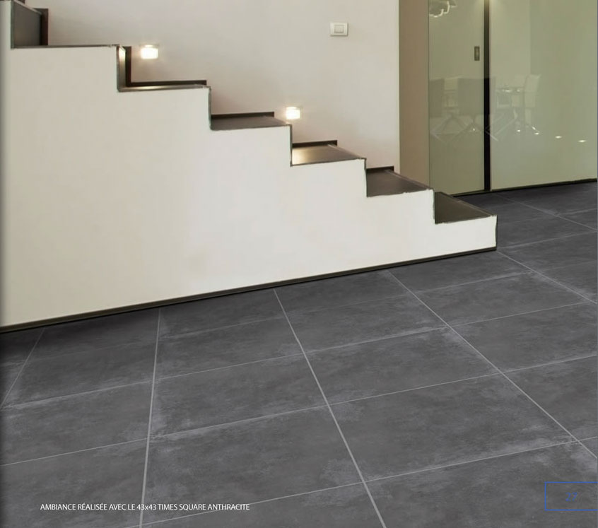 Times square anthracite 60 60 carrodepot le carrelage for Parefeuille carrelage